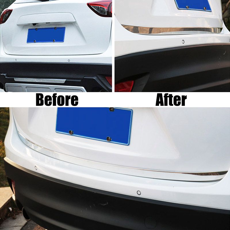 For Mazda Cx-5 2012-2016 Chrome Rear Trunk Lid Tailgate Cover Trim Strip Molding