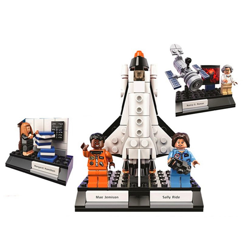 258Pcs Space Series Scientist Lady NASA Model Building Block Toys LEPIN 35002 Gift For Children Compatible Legoe 21312