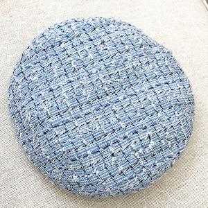 Image 4 - Béret élégant en Tweed à carreaux pour femmes, 5 couleurs à la mode, chapeau assorti, rose, bleu blanc, Y276, printemps automne, offre spéciale