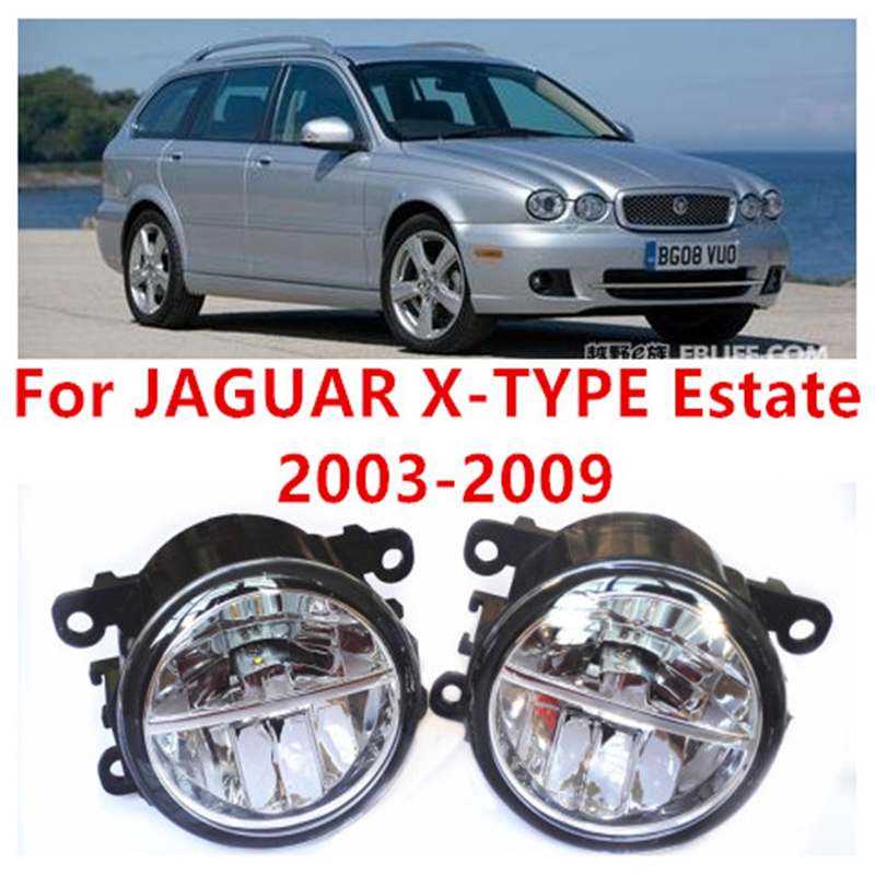 For JAGUAR X-TYPE Estate 2003-2009  10W Fog Light LED DRL Daytime Running Lights Car Styling lamps big lovely simulation cow plush toy creative stuffed cow doll birthday gift about 75cm