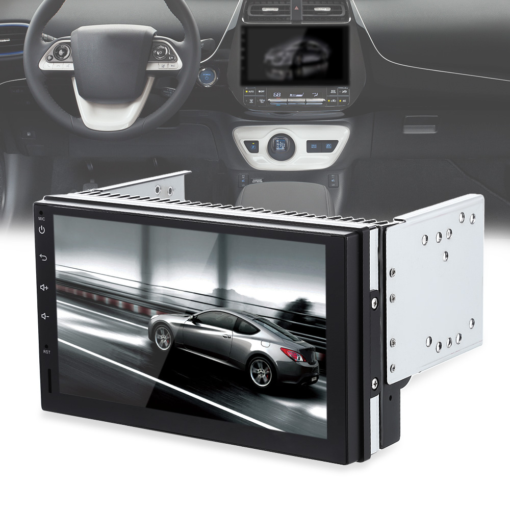 Zeepin Heißer verkauf 7023 Auto Multimedia Player Android 6.0 Quad-core 7 zoll Touchscreen Auto Player Unterstützung WiFi DVR Erbaut in GPS