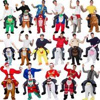 2019 New Unisex Magic Amusing Pants Piggyback Ride On Riding Animal Shoulder Adult /Kids Cosplay Costume 28 Styles 165 185CM