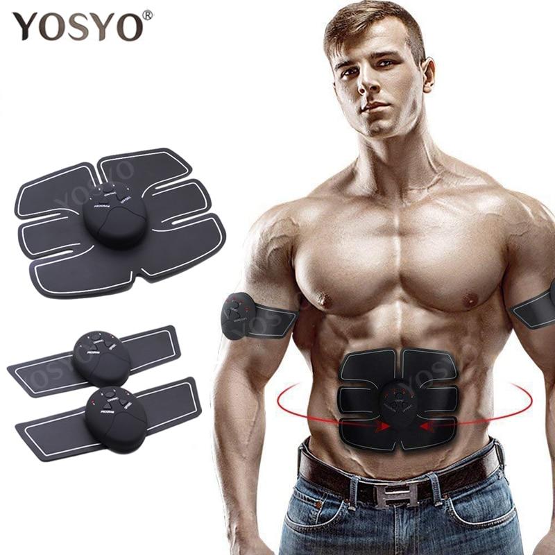 YOSYO EMS Muscle Stimulator Abdominal Machine Electric ABS Wireless Trainer Fitness Weight Loss Body Slimming Massage Retail box