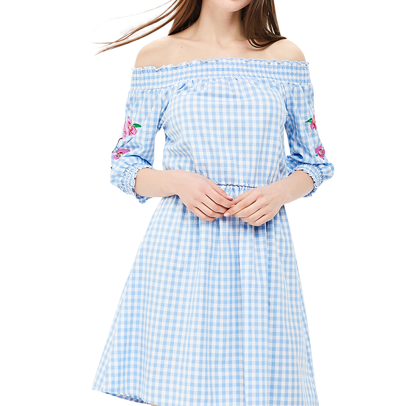 Dresses MODIS M181W00471 women dress cotton  clothes apparel casual for female TmallFS dresses dress befree for female half sleeve women clothes apparel casual spring 1811554599 50 tmallfs