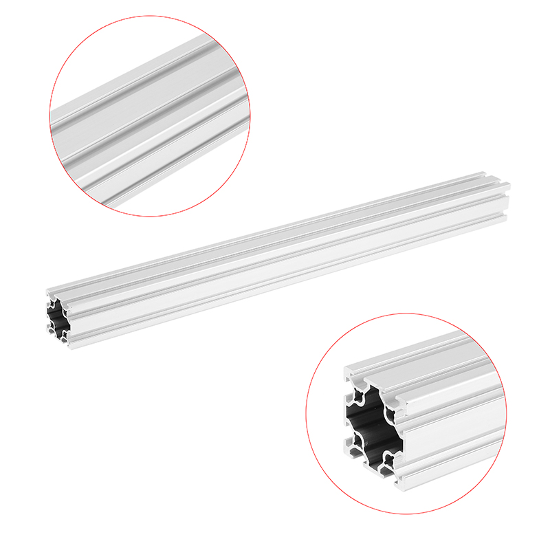 High Quality 500mm Length 4040 Double T-Slot Aluminum Profiles Extrusion Frame Based on 2020 For CNC 3D Printers Plasma Lasers high quality 500mm length 4040 double t slot aluminum profiles extrusion frame based on 2020 for cnc 3d printers plasma lasers
