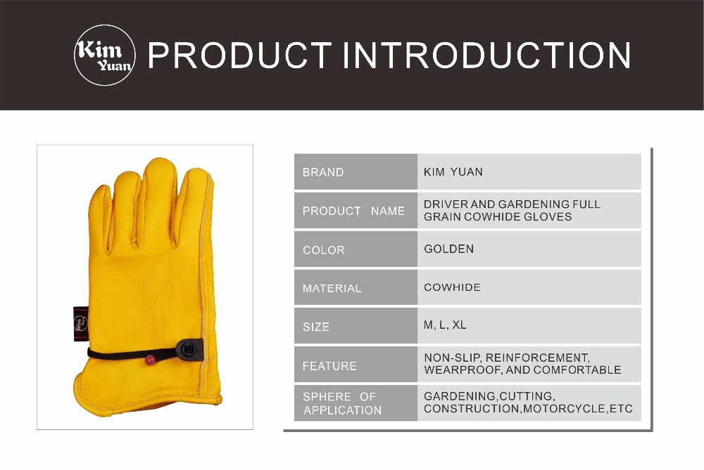 Kinco Strong Suede Cowhide Multi-Purpose Fencing Gloves with Double Palm