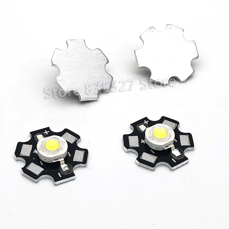 2pcs 3W White LED Heat Sink Aluminum Base Plate PCB Board Substrate 20mm LM Parts / Flashlight / Bulb Spotlight For DIY Lights