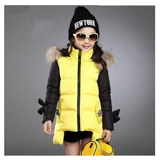 Moda parkas kız giyim 2015 çocuk giysileri kış renkli çocuk kabanlar palto prenses kız ceket çocuk giyim