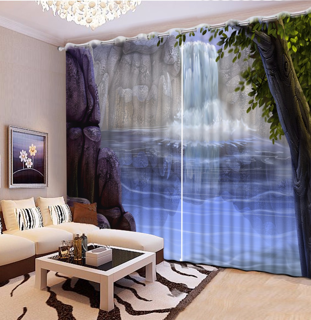 US $66.0 56% OFF|Window Decoration Creative 3D Curtains For Living Room  Bedroom Art Curtains Drapes For Wall Home Decor-in Curtains from Home &  Garden ...
