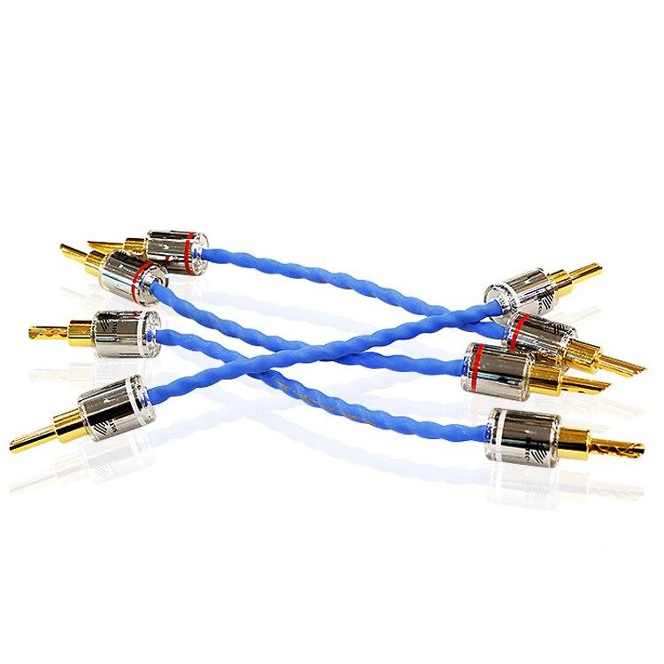 15 cm Siltech G7 Empereur Double Couronne Saut câble Bradge câble pour haut-parleurs avec spade connecteurs argent-or