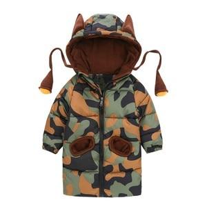 Image 5 - CROAL シェリー 80 120 センチ子供の冬ジャケット十代の少女暖かい冬ベビーパーカーのための迷彩幼児オーバーコート