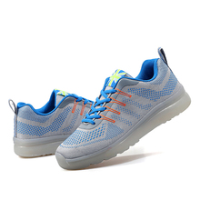 Spring/Autumn Mixed colors Breathable Air mesh Huarache Lace-Up Presto shoes Rubber Light up shoes Non-leather casual men shoes(China (Mainland))