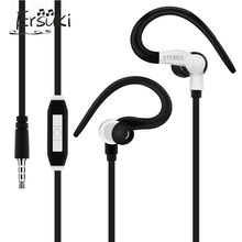 Ersuki Earhook In-Ear Wired Stereo Sports Earphone Headset A