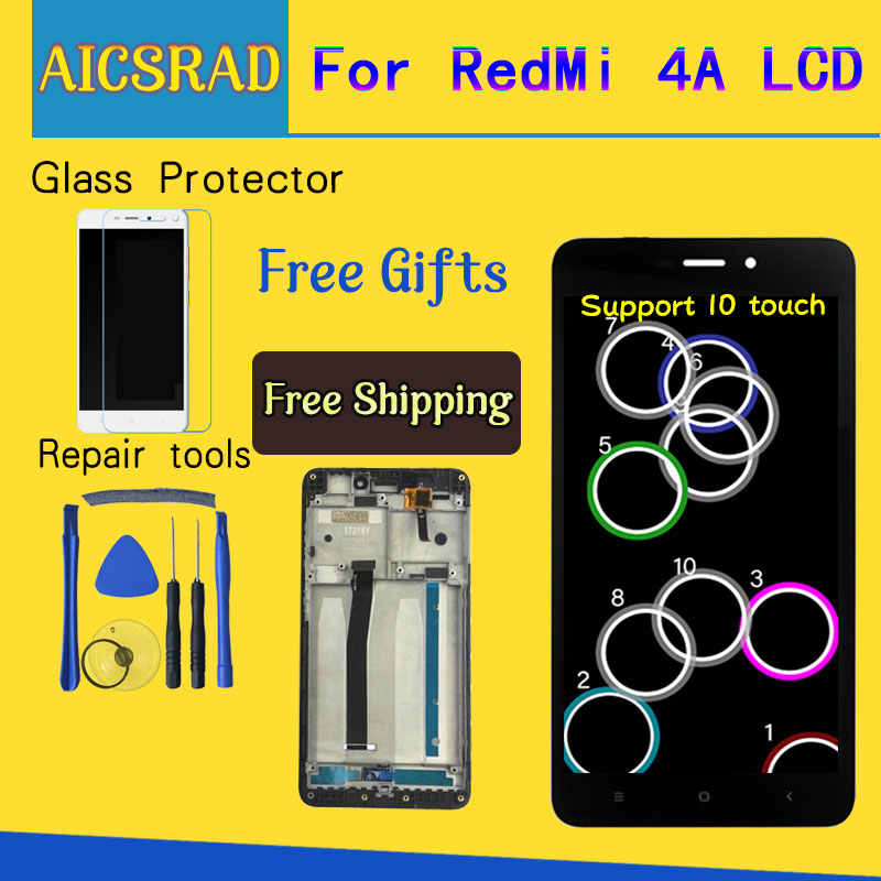 "Aicsrad 5.0 ""LCD untuk Xiaomi Redmi 4A Layar Sentuh Display LCD Digitizer Pengganti untuk Xiaomi Redmi 4A Display dengan bingkai"