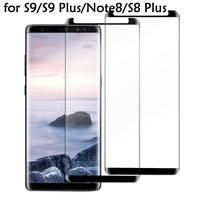 100pc For Samsung Galaxy S8 Plus Protective film Coverage Tempered Glass For Samsung Galaxy Note9 8 S9Plus Screen protector film