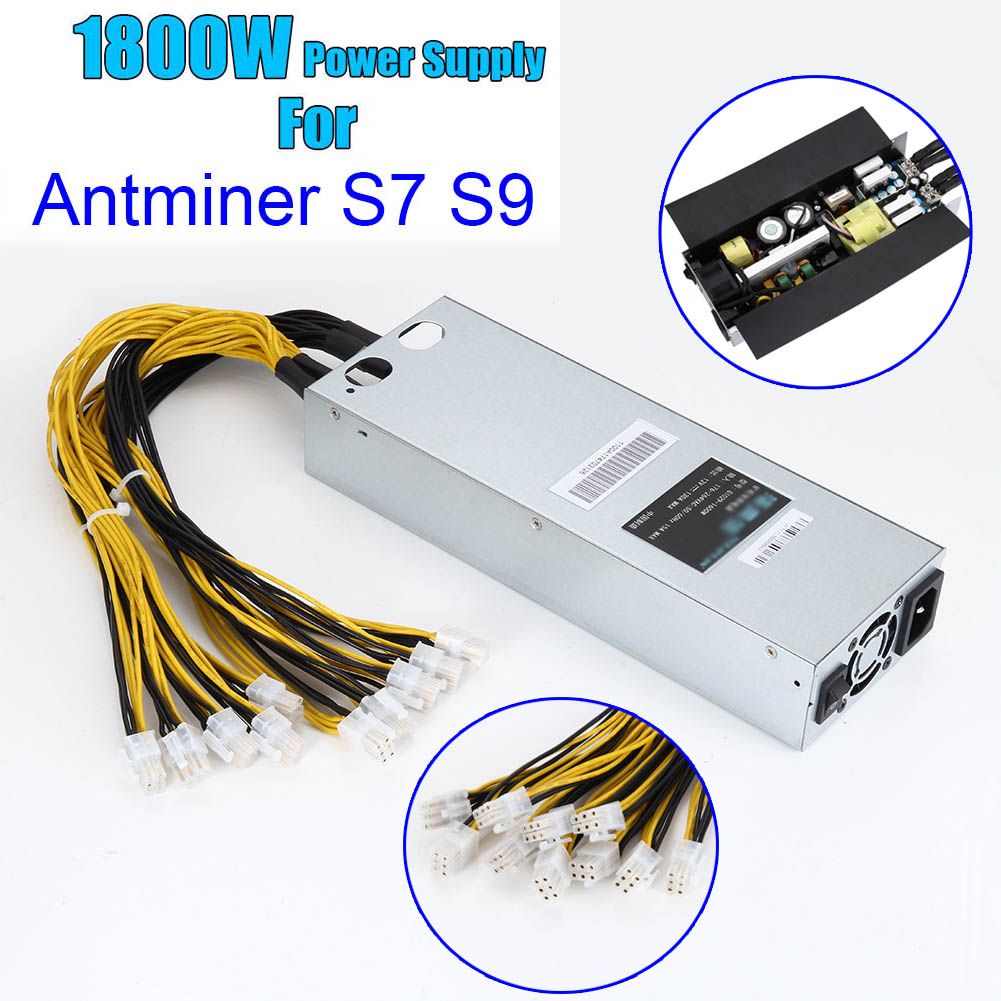 1800W 93% Power Supply For Antminer S7 S9 12.5T/13T/13.5T Mining Machine With 1.5 Meter Power Cord--M25 антенна texas 1800 power где