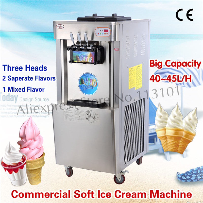 Stainless Steel Soft Ice Cream Machine CE Approval Commercial Use High Production Capacity 42~45 liters/H edtid new high quality small commercial ice machine household ice machine tea milk shop