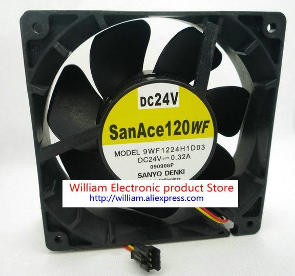 Original Sanyo 9WF1224H1D03 DC24V 0.32A 120*120*38MM 12cm for Funac Ball Bearing Cooling Fan original sanyo 109r1212t1h142 12cm 120 120 38mm 12v 0 48a 3 wire cooling fan