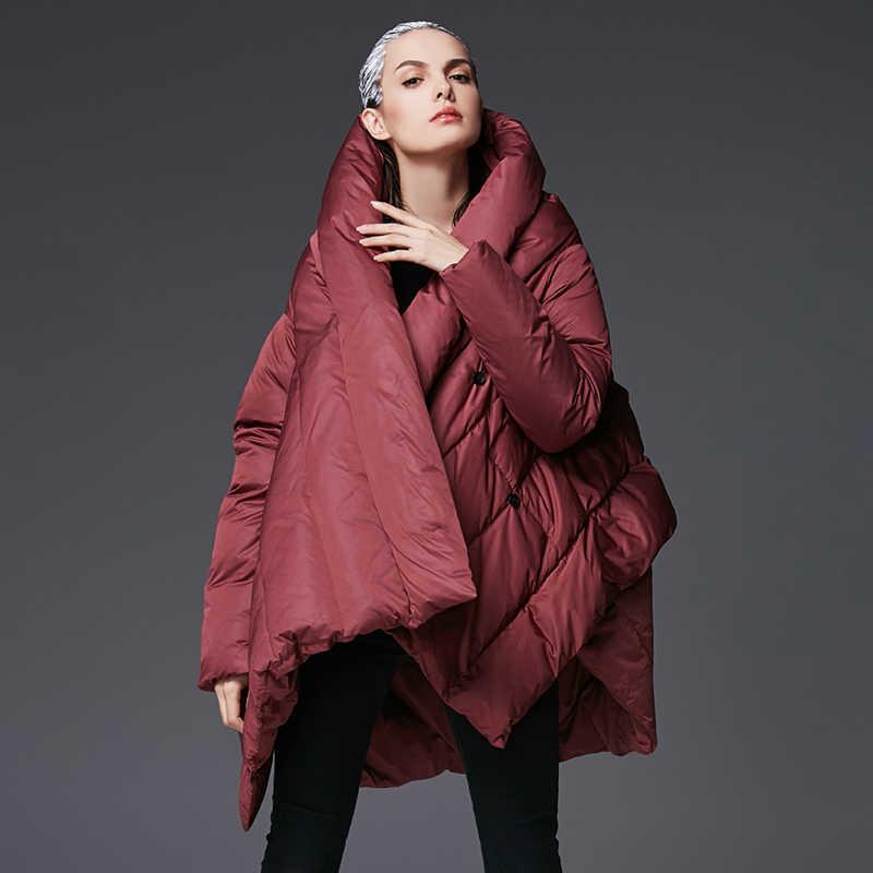 415819fd01fa ... YVYVLOLO женская зимняя куртка 2018 Новый Темперамент Модный Плащ  свободная парка женское пуховое зимнее пальто теплая ...