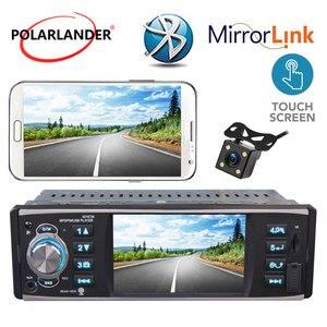 1 Din автомобильное радио 4 дюйма стерео Bluetooth Зеркало Ссылка для Android телефона Поддержка 4 светодиодный экран заднего вида HD USB/SD/FM MP5 плеер