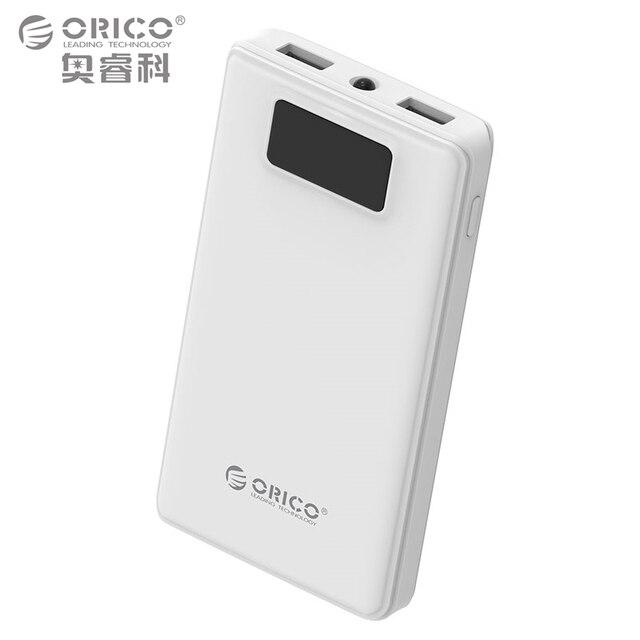 ORICO 12000 мАч Мобильные аккумуляторы внешний Батарея Портативный мобильный резервного банка Зарядное устройство для Android Iphone с светодиодный фонарик-белый