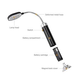Image 3 - פנס 15 SMD LED אורות מנורת 300 לום גמיש פנס מנורת עם מגנט פנס לפיד מושלם עבור עבודה בית שימוש