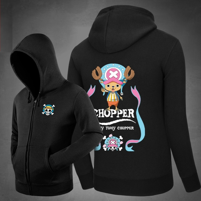 Hot Tony Tony Chopper - One Piece Hoodies Hoody  Sweatshirts Outerwear Unisex Cotton Zipper Coat