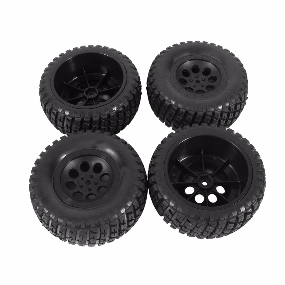4Pcs 110mm RC Racing Car Parts Rubber Tires & Wheel Rims Fit For 1:10 HPI Short Course Off Road Car Diameter RC Car Spare Part 4pcs aluminum alloy 52 26mm tire hub wheel rim for 1 10 rc on road run flat car hsp hpi traxxas tamiya kyosho 1 10 spare parts