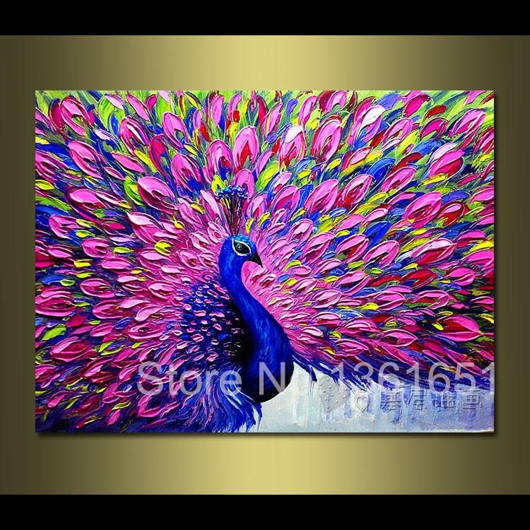 100% hand painted animal oil painting abstract art palette knife ...