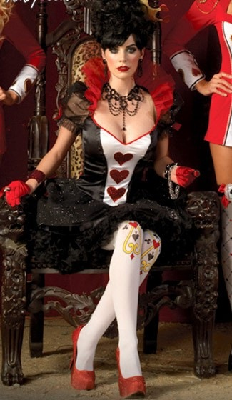 LADIES WOMENS BOOK DAY FAIRYTALE QUEEN OF HEARTS DELUXE FANCY DRESS COSTUME