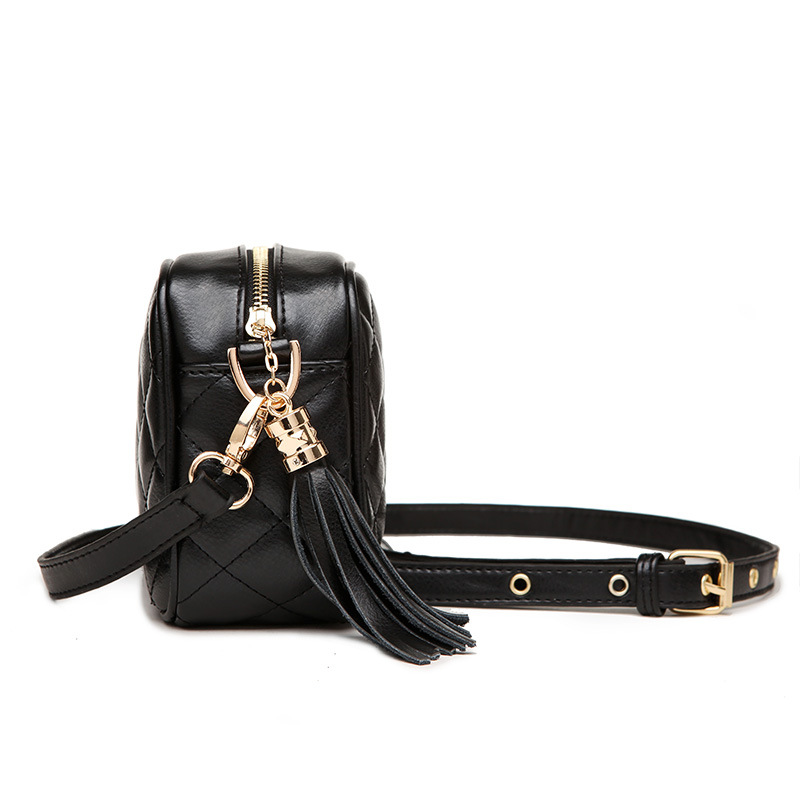Casual Quilted Leather Handbags Women Messenger Bag Small Tote Tassel Shoulder Bags Mini Chain Clutch Sac A Main Femme Purse In From