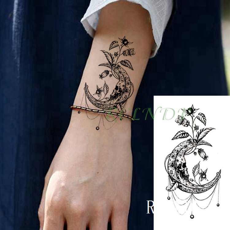 Tatuaje Temporal Resistente Al Agua Pegatina Mariposa Libélula Falso