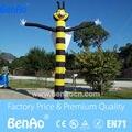 AD044 Бесплатная доставка + вентилятор 6 м наружная реклама надувные пчела танцор неба, симпатичные пчела танцор воздуха/Мини танцор воздуха для продажи