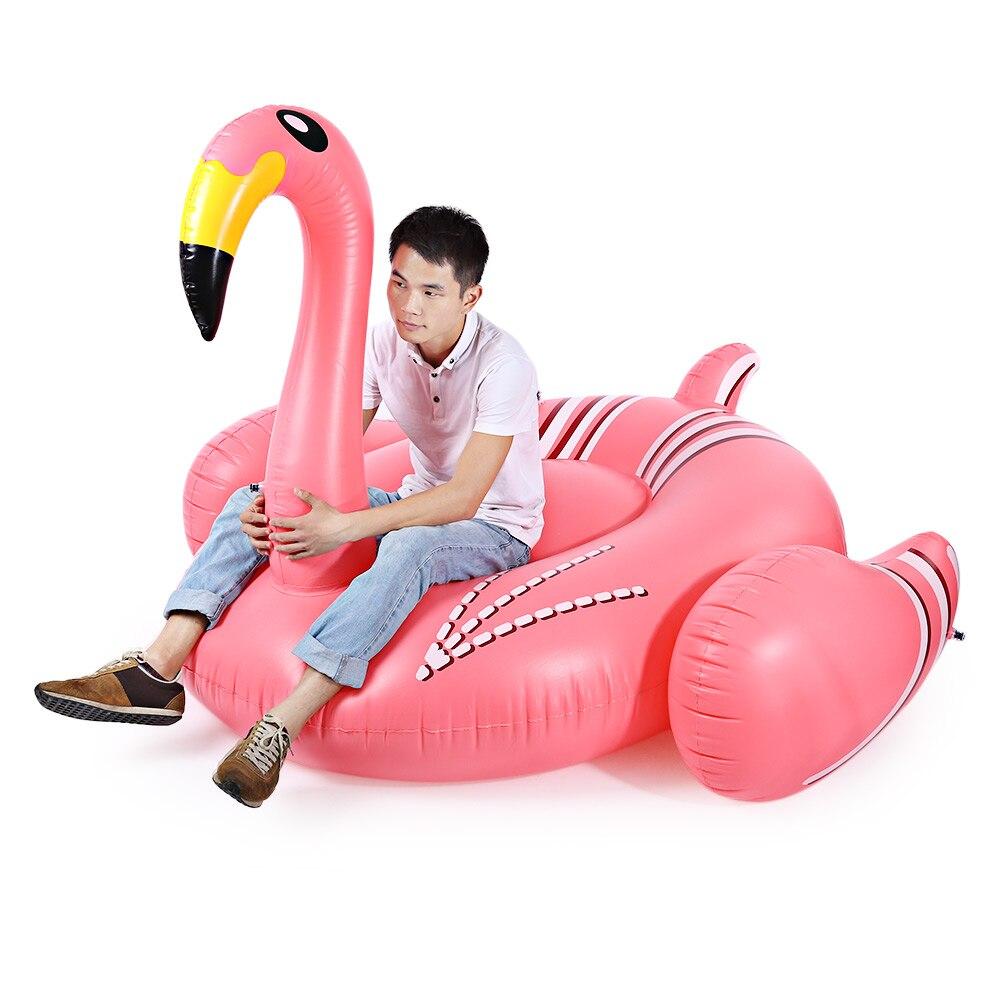 Надувной бассейн игрушки Лето озеро Rideable высокое качество Фламинго гигантский поплавок игрушка розовый милый для взрослых воды праздник забавные Вечерние