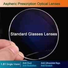 Lentes óticas da prescrição dos vidros da única visão 1.61 para a miopia/hyperopia/presbiopia óculos CR 39 lente da resina com revestimento