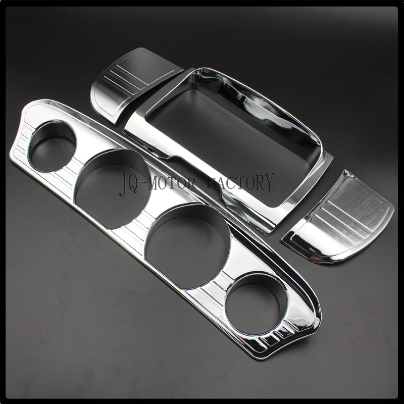 Tri Line Gauge Trim Cover for Harley Touring Electra Street Glide Ultra 2014-up