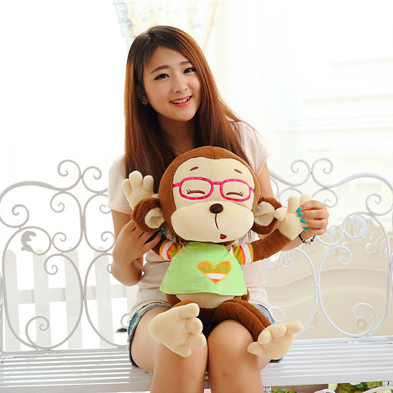 1 Piece New Arrival Cute Colorful Soft Monkey Plush Toy Appease Doll Lovely Baby Stuffed Animal Toy Kids Bed Hanging Gifts