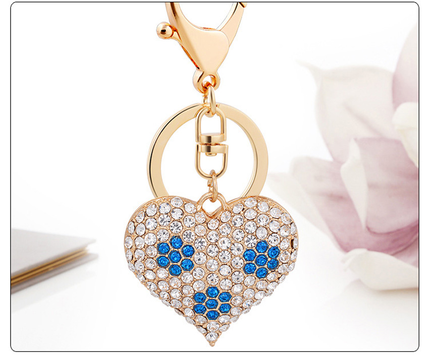 Hot Summer Fashion Bling Love Heart Keychain Pendant For Hangbag Bag Purse Charms Ornament Womans Trendy Accessory