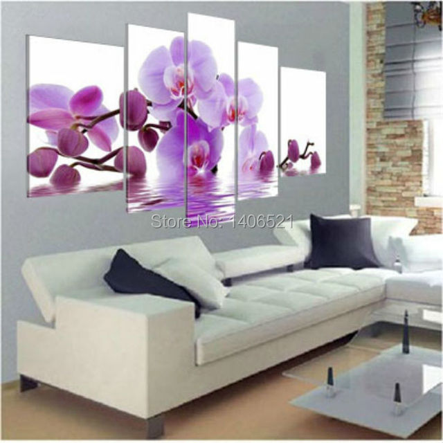 Aliexpress.com : Buy Hand Painted Orchid Wall Decor Water Side ...