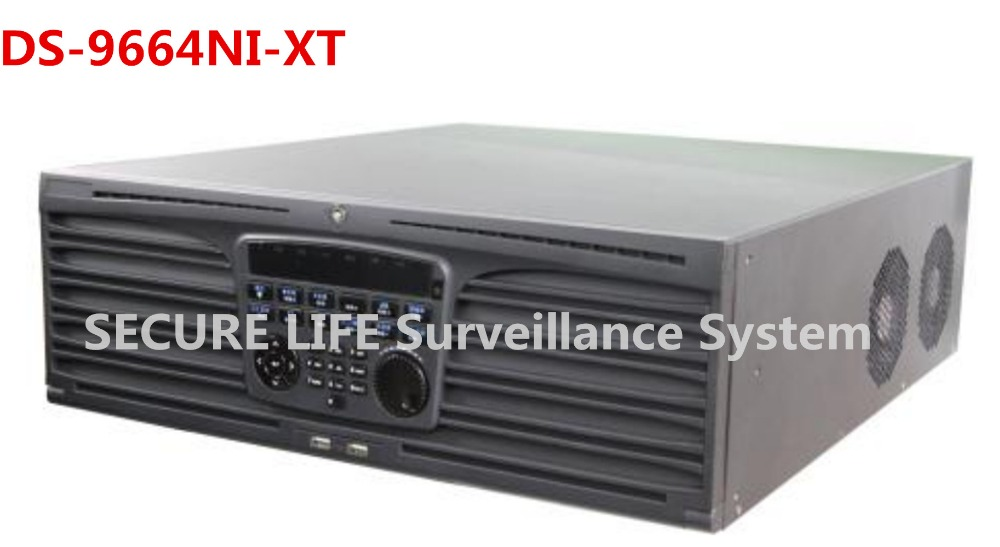 DS-9664NI-XT 64 Channel up tp 16 SATA for 16HDD and 2 eSATA interfaces Up to 5 MP,3 USB,High-end NVR 64ch 2 5 3 5 ide sata hdd to esata