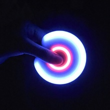 LED Light Fidget Spinner Finger Plastic EDC Hands Spinner For Autism And ADHD Relief Focus Anxiety Stress Wheel Toys Gift