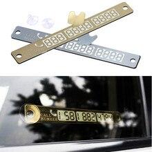 Autocollant 15*2cm, décoration de voiture, carte de numéro de téléphone, autocollant lumineux nocturne, plaque de stationnement temporaire de voiture, ventouse, carte de numéro de téléphone