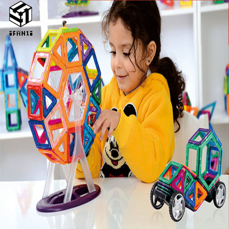 88pcs MAG VARIETY DIY Plastic Mini Magnetic Building Blocks Construction Model Educational Enlighten Assembly Toys For Children