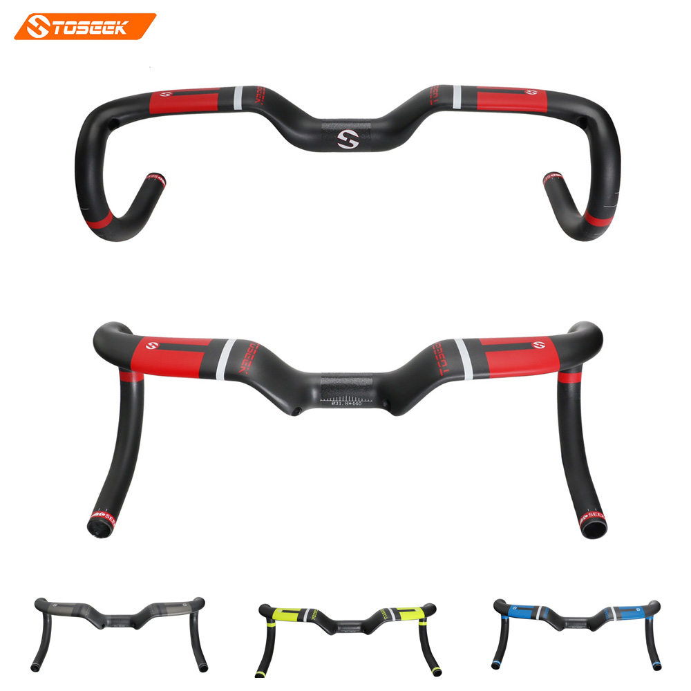 Toseek Racing Handlebar 290g Carbon Handlebar Road Bicycle Handlebar Bent Bar Carbon Road Handlebar UD Matte 400/420/440mm new temani ful carbon bicycle handlebar road bike handle bar cycling racing handlebar bicycle parts 28 6 400 420 440mm