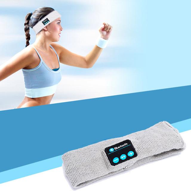 Fitness Outdoor Running Sports Headphones Call Music Knitting BT4.2 Headband