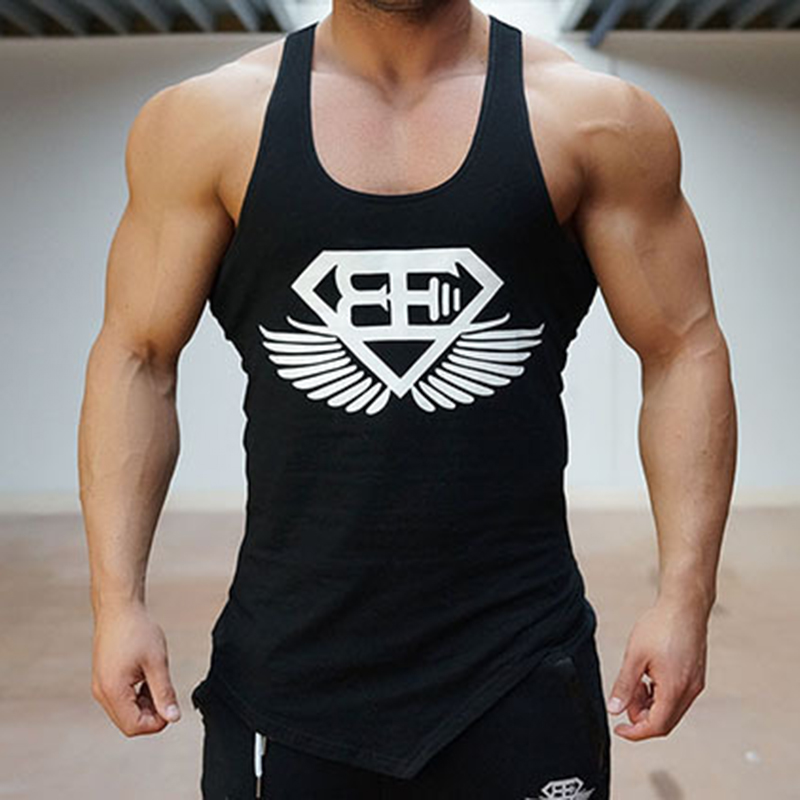 Breathable 2018 Men   Tank     Top   Undershirt Bodybuilding Singlet Fitness Sleeveless Vest Men Gyms Work Out Clothing