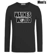 Simple Style Fashion Music WAYNE'S WORLD Print Men's Boy's T Shirts Casual Long Sleeve Newest High-quality Men T-shirt