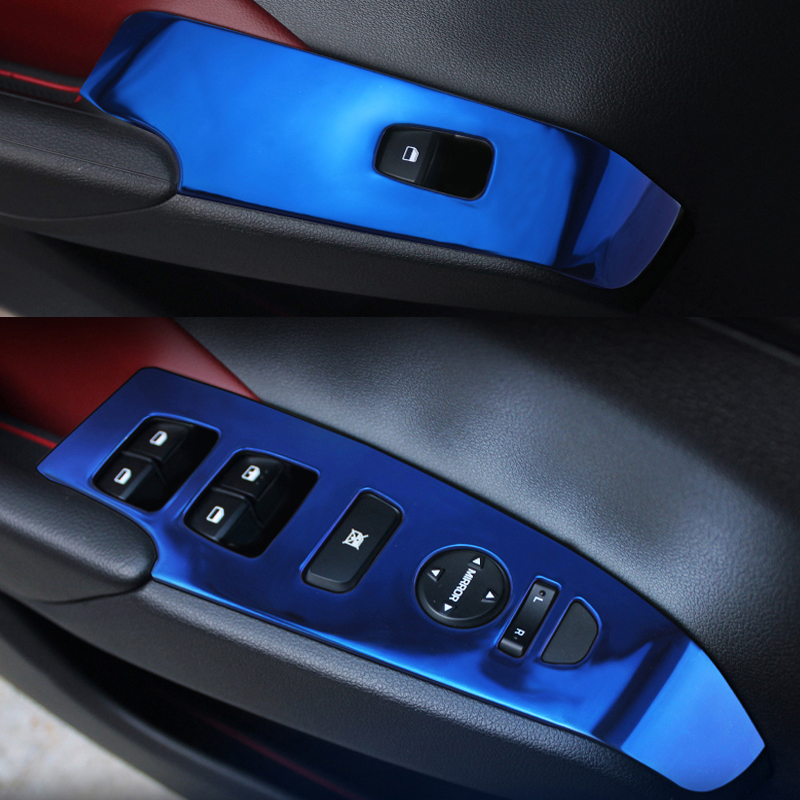 For Left hand driving door Interior Car Window Lift Switch Styling Trims For Hyundai ACC ...