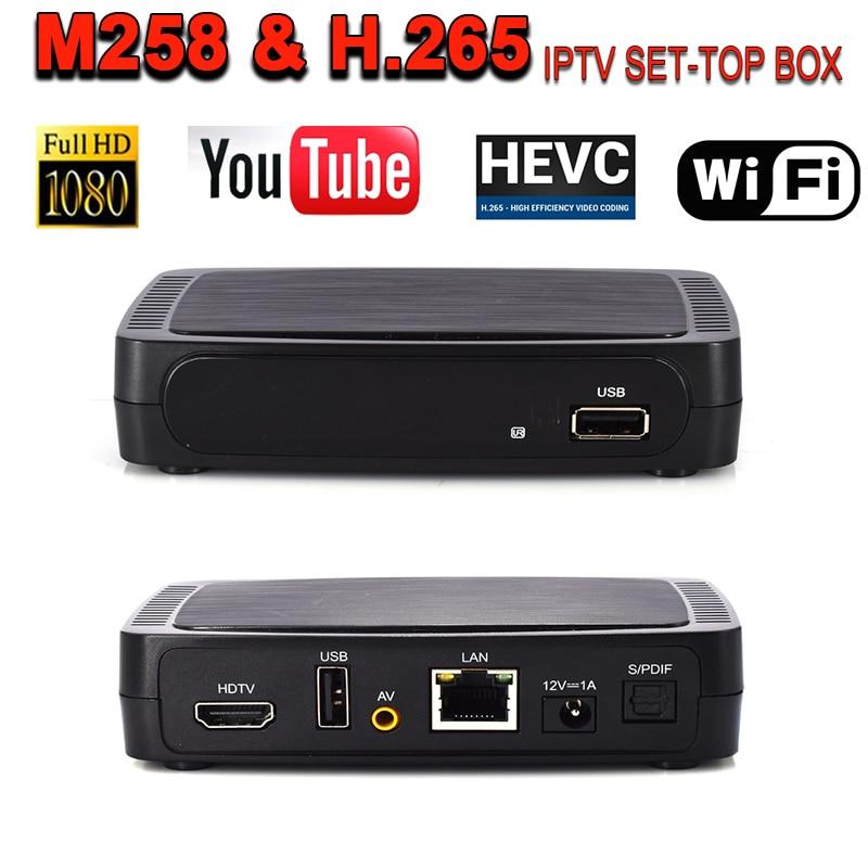IBRAVEBOX M258 smart tv box H.264 1080 P HD DDR3 2G IPTV box M258 prend en charge USB WiFi Youtube M3U iptv mieux que MAG250 MAG254