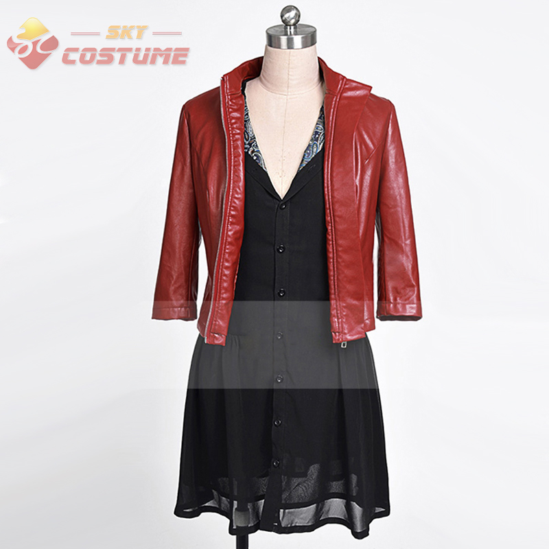 Avengers: Age of Ultron Movie Scarlet Witch Jacket Dress Full Set Cosplay Costumes For Adult Women